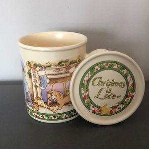 Christmas Is Love Coffee Mug & Coaster Set Vintage